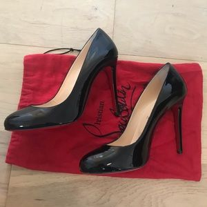 Christian Louboutin Round Toe Black Pump Heels 41